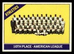 1966 Topps #492   Athletics Team Front Thumbnail