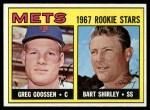 1967 Topps #287   -  Greg Goossen / Bart Shirley Mets Rookies Front Thumbnail