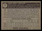 1952 Topps #42  Lou Kretlow  Back Thumbnail