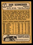 1968 Topps #57  Dan Schneider  Back Thumbnail