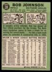 1967 Topps #38 ^xRL^ Bob Johnson  Back Thumbnail