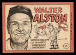 1969 Topps #24 ^xBRK^ Walter Alston  Back Thumbnail