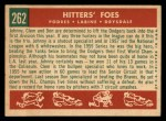 1959 Topps #262   -  Clem Labine / Johnny Podres / Don Drysdale Hitters' Foes Back Thumbnail