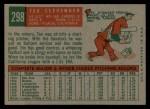 1959 Topps #298  Tex Clevenger  Back Thumbnail