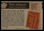 1955 Bowman #200  Dick Littlefield  Back Thumbnail