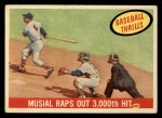 1959 Topps #470   -  Stan Musial Musial Raps Out 3000th Hit Front Thumbnail
