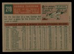 1959 Topps #219  George Zuverink  Back Thumbnail