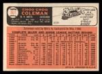 1966 Topps #561  Choo Choo Coleman  Back Thumbnail