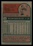 1975 Topps #11  Bill Melton  Back Thumbnail