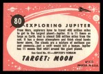 1957 Topps Target Moon Popsicle #80   Exploring Jupiter  Back Thumbnail