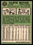 1967 Topps #328  Clete Boyer  Back Thumbnail