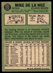 1967 Topps #372  Mike de la Hoz  Back Thumbnail