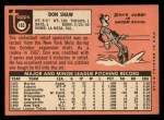 1969 Topps #183 ^COR^ Don Shaw  Back Thumbnail