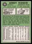 1967 Topps #366  Andy Kosco  Back Thumbnail