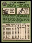 1967 Topps #205  Dick Groat  Back Thumbnail
