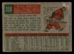 1959 Topps #359  Bill White  Back Thumbnail
