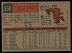 1959 Topps #264  Chico Carrasquel  Back Thumbnail