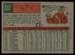 1959 Topps #337  George Crowe  Back Thumbnail