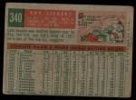 1959 Topps #340  Roy Sievers  Back Thumbnail
