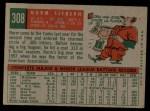 1959 Topps #308  Norm Siebern  Back Thumbnail