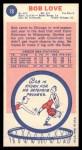 1969 Topps #78  Bob Love  Back Thumbnail