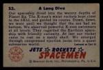 1951 Bowman Jets Rockets and Spacemen #53   Long Dive Back Thumbnail