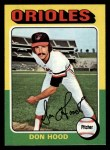1975 Topps #516  Don Hood  Front Thumbnail