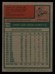 1975 Topps #518  Leo 'Chico' Cardenas  Back Thumbnail