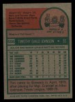 1975 Topps #556  Tim Johnson  Back Thumbnail