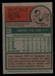 1975 Topps #557  Larry Gura  Back Thumbnail