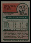 1975 Topps #584  Mike Garman  Back Thumbnail
