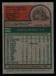 1975 Topps #419  Dave Goltz  Back Thumbnail