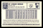 1973 Kelloggs 2D #34  Joe Morgan  Back Thumbnail