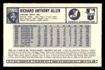 1973 Kelloggs 2D #26  Rich Allen  Back Thumbnail