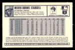 1973 Kelloggs 2D #25  Willie Stargell  Back Thumbnail