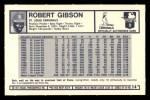 1973 Kelloggs #14  Bob Gibson  Back Thumbnail