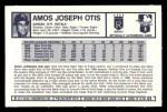 1973 Kellogg's #1  Amos Otis  Back Thumbnail