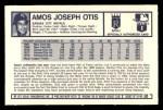 1973 Kelloggs #1  Amos Otis  Back Thumbnail