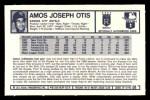 1973 Kelloggs 2D #1  Amos Otis  Back Thumbnail