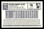 1973 Kelloggs #11  Steve Blass  Back Thumbnail