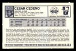1973 Kelloggs #13  Cesar Cedeno  Back Thumbnail