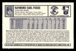 1973 Kelloggs #18  Ray Fosse  Back Thumbnail