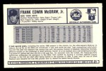 1973 Kellogg's #21  Tug McGraw  Back Thumbnail