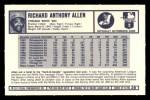 1973 Kelloggs #26  Rich Allen  Back Thumbnail