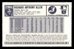 1973 Kellogg's #26  Rich Allen  Back Thumbnail