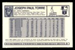 1973 Kellogg's #31  Joe Torre  Back Thumbnail