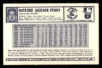 1973 Kelloggs #38  Gaylord Perry  Back Thumbnail