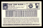 1973 Kelloggs #21  Tug McGraw  Back Thumbnail