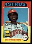 1975 Topps #512  Larry Milbourne  Front Thumbnail