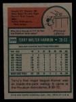 1975 Topps #399  Terry Harmon  Back Thumbnail